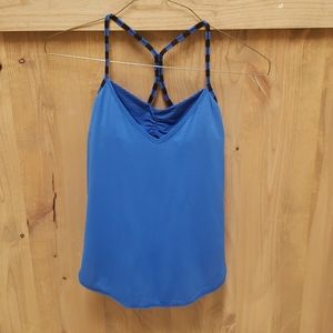 """""""Roll Out"""" blue Lululemon tank top. Size 4"""